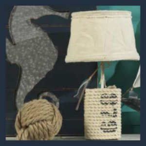 Abat Jour Pesci lampada da comodino stile marittimo