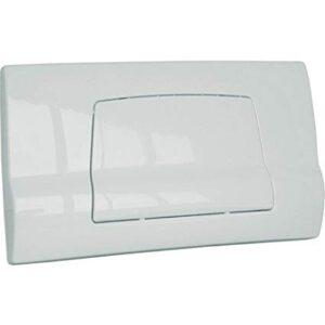 Placca bianca per cassetta incasso Twinline 2 pulsanti Geberit